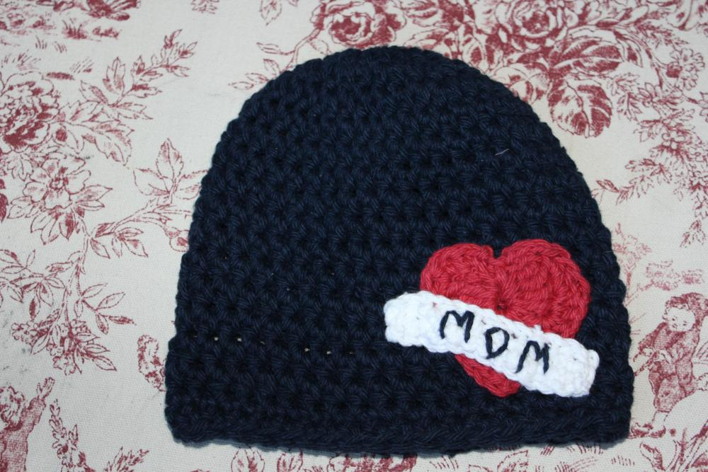'Mom&quot; tattoo baby beanie