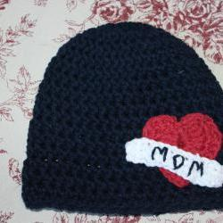 &#039;Mom&amp;quot; tattoo baby beanie